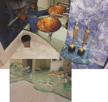 Glass Bathroom Counters
